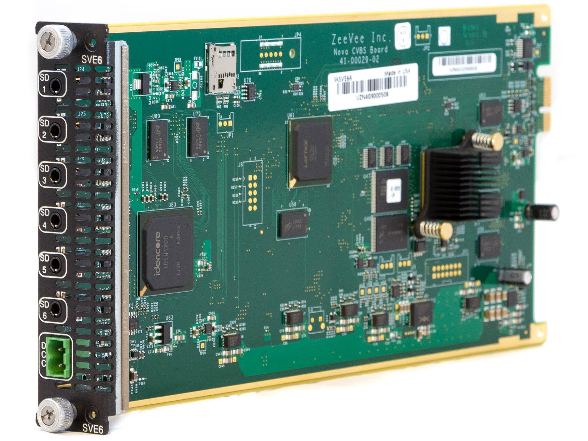 ZeeVee 3KSVE6R Composite Media Module Blade SD video encoder/modulator for HDbridge3000