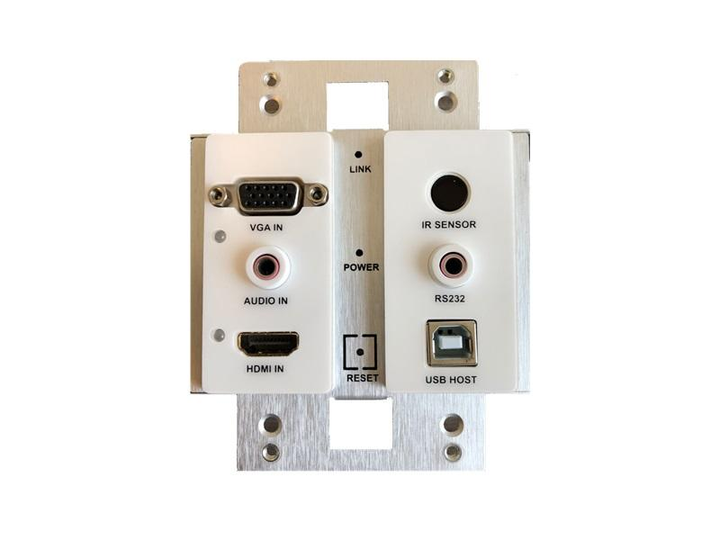 ZeeVee ZYPERUHD-WE HDMI 2.0 and VGA Input Wallplate Encoder with IP Streaming via Gbit/Copper
