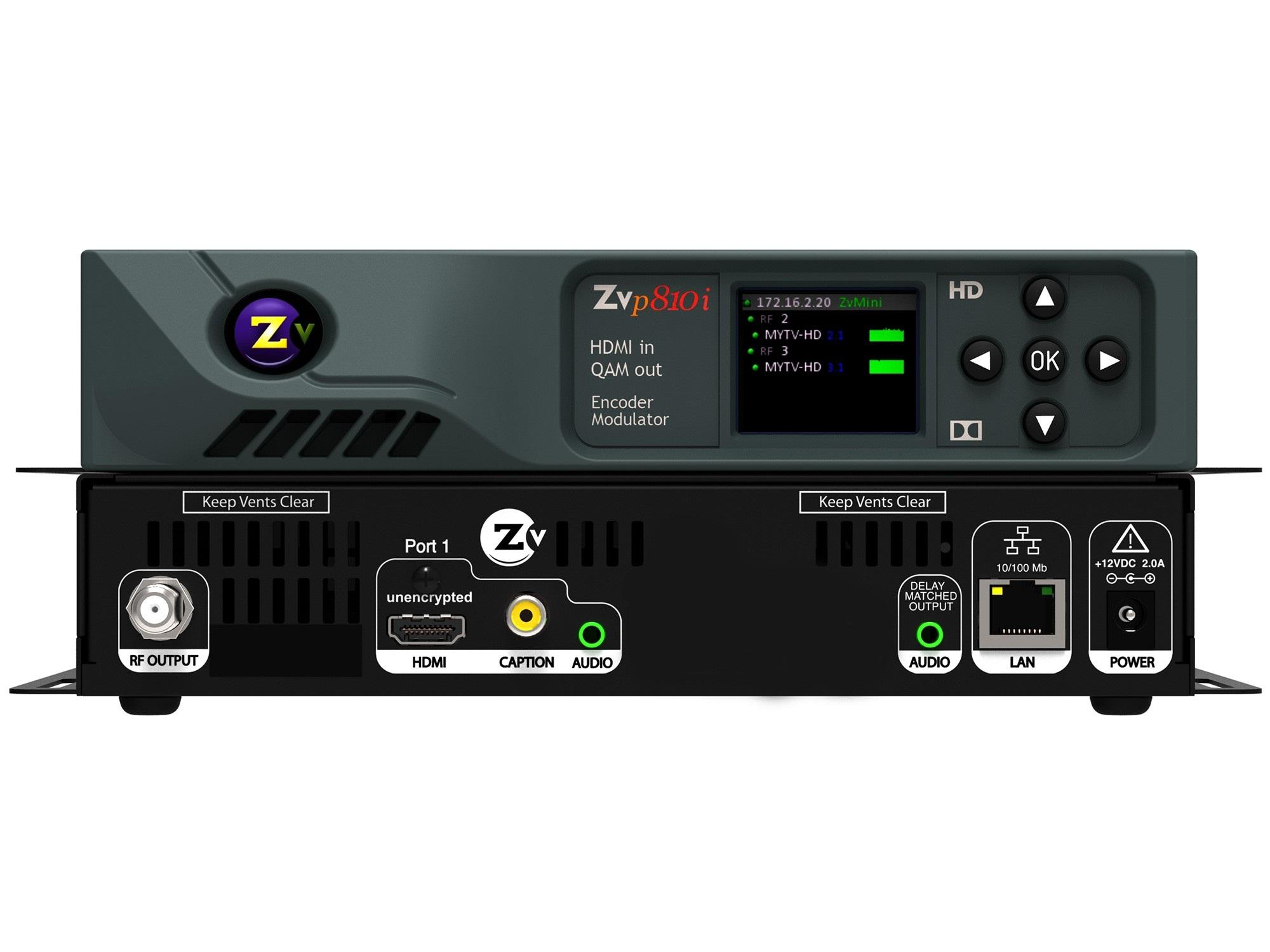 ZeeVee ZvPro810i-NA 1-Ch HD Video QAM Modulator over COAX 1080p