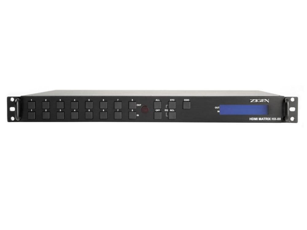 Zigen HX-88-b 8X8 HDMI Modular Switcher (HDMI 1.3C/RS232/IR)