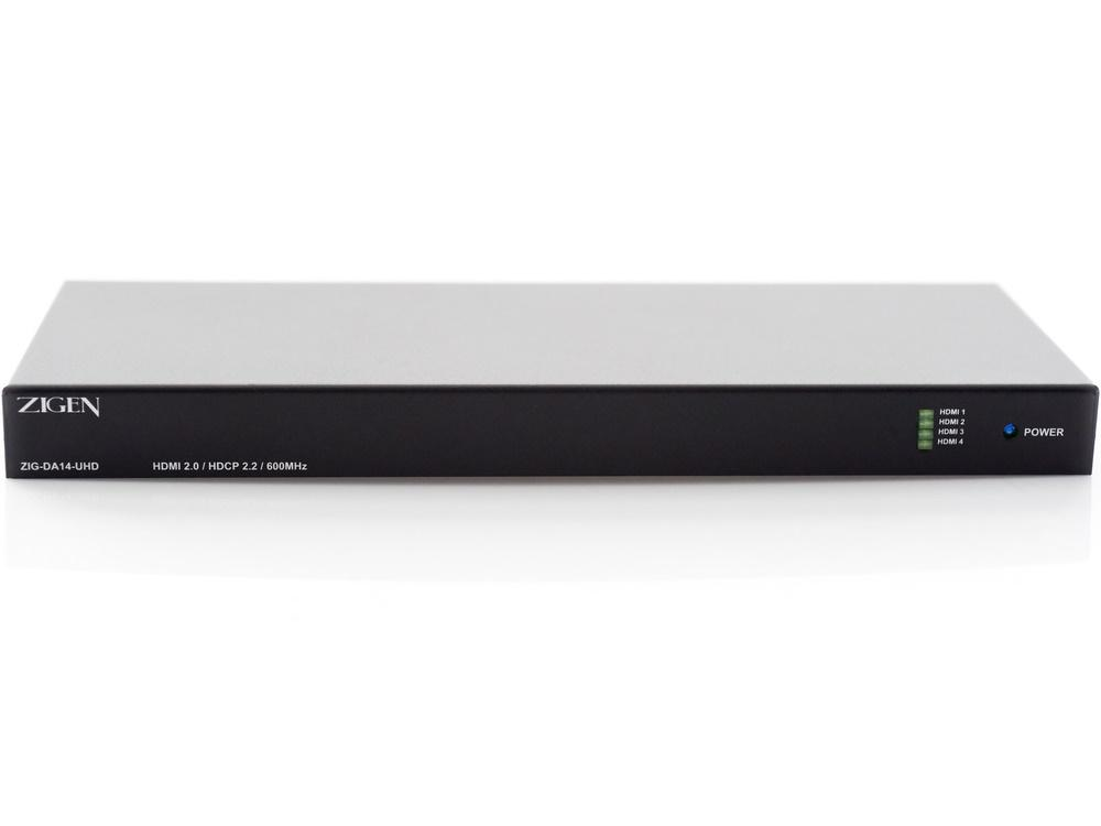 Zigen ZIG-DA14-UHD HDMI 2.0a (18 GBPS) Distribution Amplifier with EDID and HDR Support