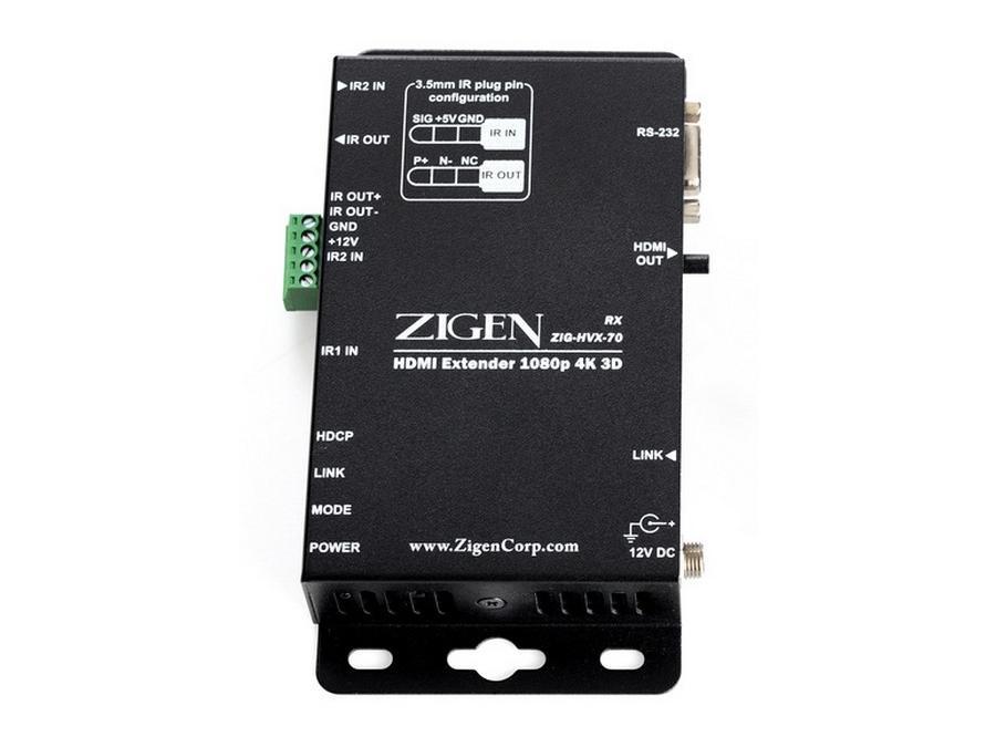 Zigen ZIG-HVX-70-R 4K/2K HDMI/HDBaseT Extender (Receiver) over single CAT5/6 up to 70m