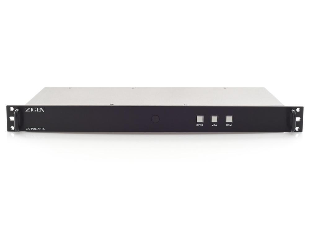 Zigen ZIG-POE-AHTX HDBaseT Rack Mount Auto-Switching Transmitter (UHD/PoE Up/Down Stream)
