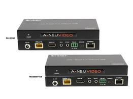 A-NeuVideo ANI-HDR100 HDMI 4K HDR 18Gbps PoH Extender (Transmitter/Receiver) Kit over CAT5e/6 328ft/100M