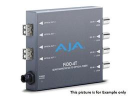 AJA FiDO-4T-X Quad Channel SDI to LC Fiber Extender (Transmitter) Multi-Mode/CDWM SFP