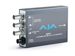 AJA ADA4 4-Ch Bi-Directional Audio A/D and D/A Converter or AES Synchronizer