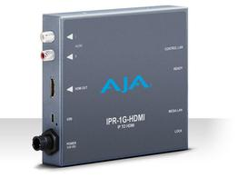 AJA IPR-1G-HDMI JPEG 2000 IP Video and Audio to HDMI Converter