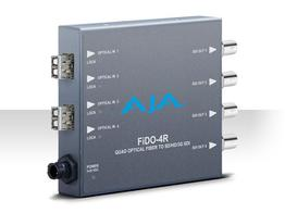 AJA FiDO-4R Quad Optical Fiber to SD/HD/3G-SDI Converter