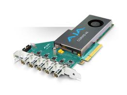 AJA CRV44-BNC-NF 8-lane PCIe 2.0 Flexible Multi-format I/O Card with full size BNC and Passive Heat Sink