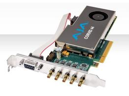 AJA Corvid 44-T Standard-profile 8-lane PCIe Card with 4 x SDI configurable I/O and cables