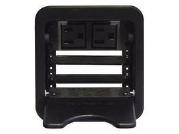 Altinex CNK241 CABLE-NOOK JR Tabletop Box Power Outlet/Retaining Brackets/Black