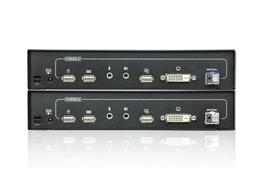 Aten CE690 DVI Single Link Optical KVM Extender (Transmitter/Receiver) Kit with audio up to 12 miles