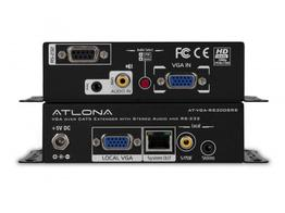 Atlona AT-VGA-RS300SRS VGA with Stereo Audio/RS232/IR Extender (Transmitter/Receiver) over Single CAT5/6 (Up to 1000ft)