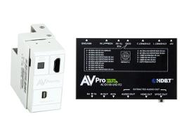 AVPro Edge AC-CXWP-MDP-100KIT 4K Mini DisplayPort/HDMI/HDBaseT Decora Style Wall Plate Extender (Transmitter/Receiver) Kit up to 100m/330ft
