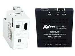 AVPro Edge AC-CXWP-MDP-70KIT 4K Mini DisplayPort/HDMI/HDBaseT Decora Style Wall Plate Extender (Transmitter/Receiver) Kit up to 70m/230ft