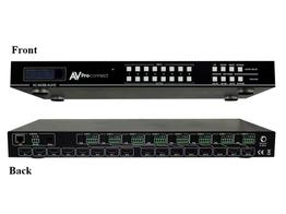 AVPro Edge AC-MX88-AUHD-GEN2 18Gbps True 4K60 8x8 Matrix with Digital Audio/Balanced Audio Out/Built in 4K Up/Down Scalers