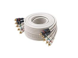 Cabletronix 254-675IV Premium RGB Video Cable/All RCA w Audio/Ultra Shield/75ft