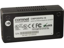 Comnet CWPOEIPS-15 48VDC Power Over Ethernet (PoE) Midspan Injector