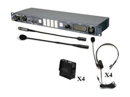 Datavideo ITC-100 8-User Wired Intercom System w 4 Beltpacks and 4 Headsets