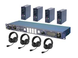 Datavideo ITC100HP2K ITC-100 Wired Intercom System with Four HP-2A Headsets Kit