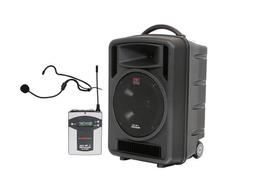 Galaxy Audio TV10-0010S000 TV10 Traveler Portable PA System w UHF Rx/Headset Mic with Body Pack Tranx