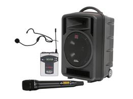 Galaxy Audio TV10-0020HS00 TV10 Traveler Portable PA System w UHF Rx/Handheld Mic/Headset Mic w Body Pack Tranx