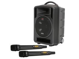 Galaxy Audio TV10-C020HH00 TV10 Traveler PA System w CD Player (SD Card/USB In) Dual Ch UHF Rx/2-Handheld Mic