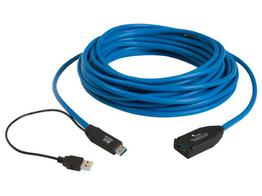 Icron 300115 USB 3.0 Spectra 1-Port Active Copper Extension Cable - 15m