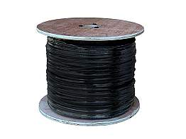 LTS LTAC2030B Coaxial Siamese Cable without Connectors - 500ft Black