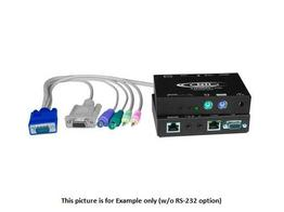 NTI st-c5kvm2a-1000s VGA PS/2 KVM Extender (Transmitter/Receiver) Kit with 2-Way Audio/CATx to 1000ft