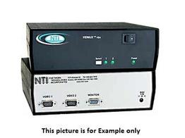 NTI se-15v-2-2c1u-rs VGA Video Switch with RS232/2 Computers Between 1 Monitor
