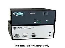 NTI se-15v-2-2u1c-rs VGA Video Switch with RS232/1 Computer Between 2 Monitors