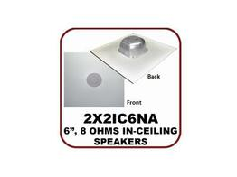 OWI 2X2IC6NA 6.5 inch 2-way 8 Ohms In-ceiling Speaker on a 2X2 Tile Grill with Backcan/65Hz-20kHz