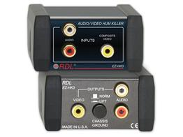RDL EZ-HK3 Stereo Audio/Composite Video HUM KILLER