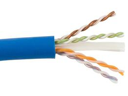 SCP CAT6A-P-BL-250 250ft CAT6A Augmented Plenum 10GBASE-T UTP Cable/Blue