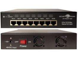 Securitytronix ST-POEAF-S08 8 Port 10/100 PoE Switcher