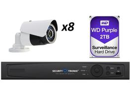 Securitytronix NVR8-312-20 8CH NVR w 2.1MP Bullet Camera and 2 TB Hard Drive
