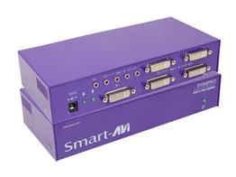 Smartavi DVS4PROS 1x4 DVI (DVI-I) Video and Stereo Audio Splitter