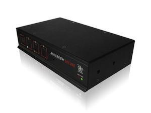 Adder AVSD1004-US 4-Port Secure USB DVI-I EAL2/KVM Switch