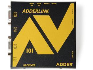 Adder ALAV101R VGA Audiovisual Extender Receiver w DeSkew over CAT5 Up to 1000ft