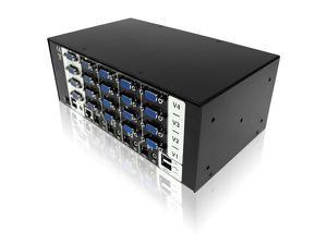 Adder AV4PRO-VGA-DUAL Pro VGA/Dual Video/USB 4 Port Switch with USB True Emulation Technology