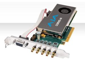 AJA CRV44-T-NCF Corvid 44 with standard profile PCIe bracket and passive heat sink/no cables