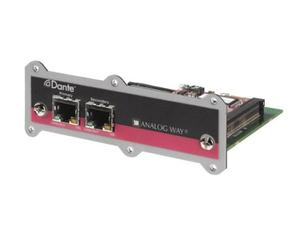 Analog Way OPT-AUDIODANTE-VIO4K Up to 8 bidirectional Dante audio channels - I/O Expansion Interface