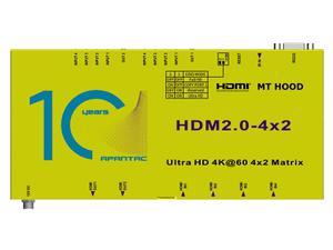 Apantac HDM2.0-4x2-UHD 4x2 1 RU HDMI 2.0 Matrix Switch with IR and RS232 control