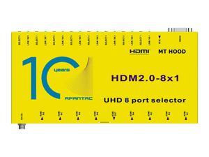 Apantac HDM2.0-8x1 8x1 4K 60Hz HDMI 2.0 and HDCP 2.2 Switch