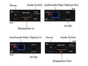 Apantac DP-FIB-A030 DisplayPort 1.2 UHD Extender(Transmitter/Receiver) Kit with 30 meter copper/fiber hybrid cable