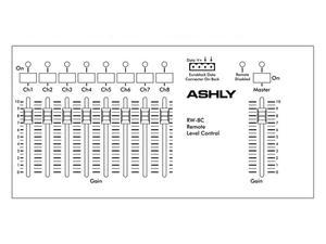 Ashly RW-8C Fader Remote/8-Ch w Master/wall-mount