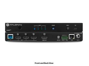 Atlona AT-JUNO-451-HDBT 4K HDR Auto-Switching Four-Input HDMI and HDBaseT Switcher