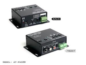 Atlona AT-PA100 Professional Stereo/Mono Audio Amplifier with 3 Inputs (2 x Stereo, 1 x MIC)