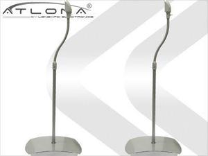 Atlona AT-SS-1S ATLONA UNIVERSAL FLOOR SPEAKER STANDS ( PAIR ) ( SILVER )